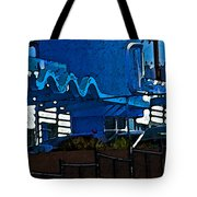 Pueblo Downtown Blue Abstract Tote Bag