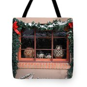 Pueblo Pottery Winter Window Tote Bag