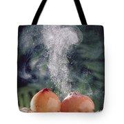 Puffballs Releasing Spores Tote Bag