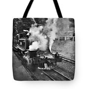Puffing Billy Black And White Tote Bag