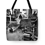 Puffing Billy Black And White V2 Tote Bag
