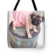 Pug Puppy Pink Sun Dress Tote Bag