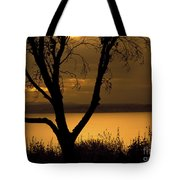 Pugent Sound Silhouetted Tree Tote Bag