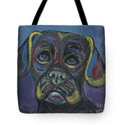 Puggle In Abstract Tote Bag