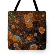 Pumpkin Abstract Square Tote Bag