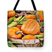 Pumpkin And Corn Combo Tote Bag