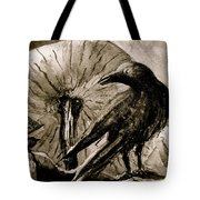 Pumpkin And Crow Tote Bag