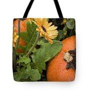 Pumpkin And Gerberas Tote Bag