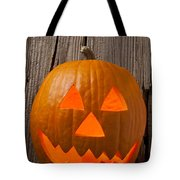 Pumpkin With Wicked Smile Tote Bag