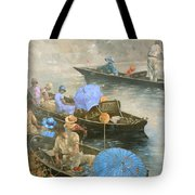 Punts On The Wey At Brooklands Tote Bag