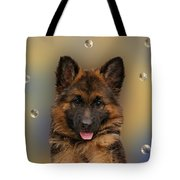 Puppy With Bubbles Tote Bag