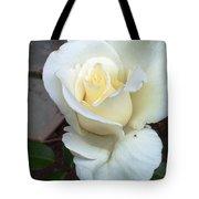 Pure White Rose Tote Bag