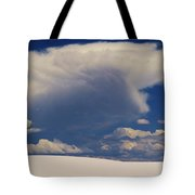 Pure White Sand And Mountain Storms Tote Bag