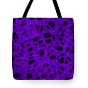 Purple And Blue Abstract Tote Bag