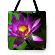 Purple And Gold Three Tote Bag