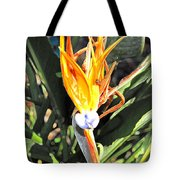 Purple And Orange Flower Accent Fx  Tote Bag