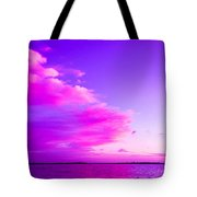 Purple And Pink Tote Bag