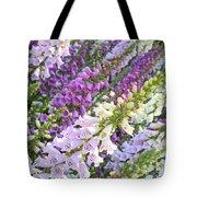 Purple And White Foxglove Square Tote Bag