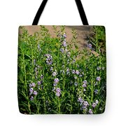 Purple And White Pinwheels Tote Bag