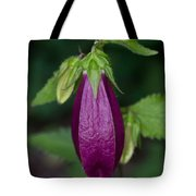 Purple Bell Flower Tote Bag