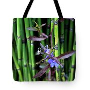 Blue Bursts From Bamboo Tote Bag