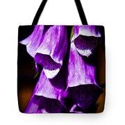 Purple Cascade Tote Bag