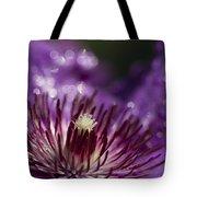 Purple Clematis And Bokeh Tote Bag