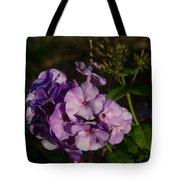Purple Cluster Of Flowers Tote Bag