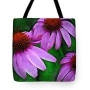 Purple Coneflower Trio Tote Bag