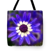 Purple Daisy Photoart Tote Bag