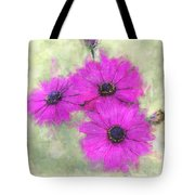 Purple Daisy Trio Watercolor Photoart Tote Bag