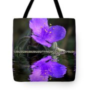 Purple Elegance - Spider Wort Tote Bag