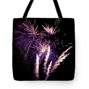Purple Firework Tote Bag