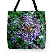 Purple Flower Sphere Tote Bag
