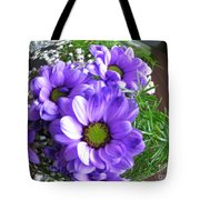Purple Flowers In The Bubble Tote Bag