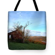 Purple Foot And Autumn Leaves Tote Bag