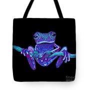 Purple Ghost Frog Tote Bag