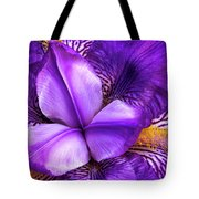 Purple Japanese Iris Tote Bag