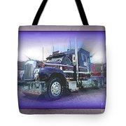 Purple Mack Abstract Tote Bag