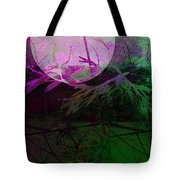 Purple Moon Tote Bag by Ann Powell