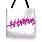 Purple Orchid Bunch Isolated Tote Bag