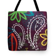 Purple Paisley Garden Tote Bag