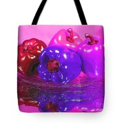 Purple Peppers Tote Bag