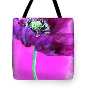 Purple Poppy On Pink Tote Bag