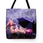 Purple Rain Tote Bag by Jutta Maria Pusl