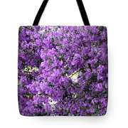 Purple Screen Square Tote Bag