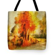 Purple Smoke Tree Tote Bag