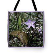 Purple Spring Trail Flower Tote Bag