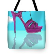 Purple Stilt Stilettos Reflections Tote Bag