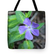 Purple Vinca Tote Bag